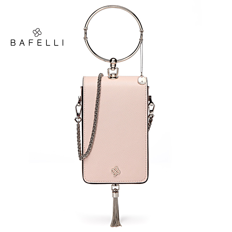BAFELLI split leather shoulder bag metal tassels bolsos mujer rose red ring handbag rose gold minaudiere women messenger bagsBAFELLI split leather shoulder bag metal tassels bolsos mujer rose red ring handbag rose gold minaudiere women messenger bags