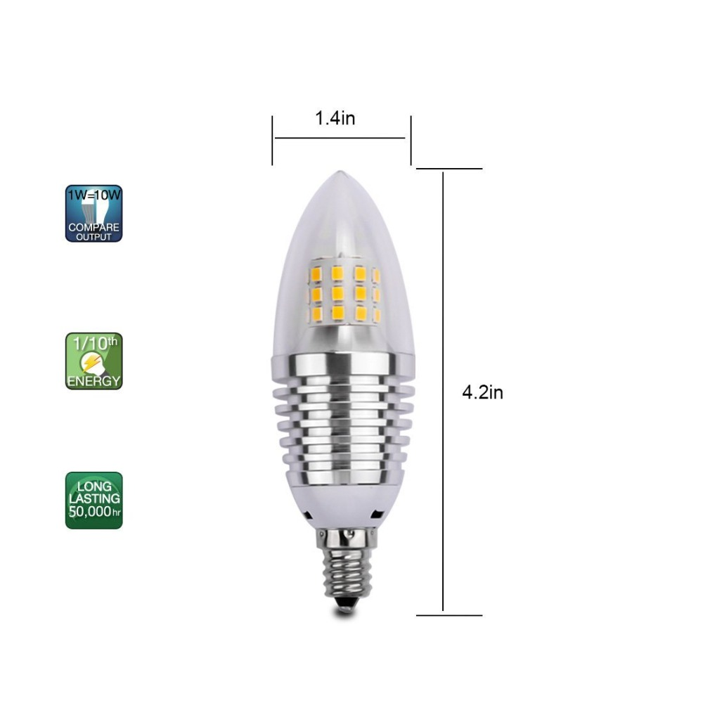 6 pack led candelabra bulb 7w daylight white 6000k led chandelier 6 pack led candelabra bulb 7w daylight white 6000k led chandelier bulbsbase e12non dimmable led lamp60 watt light bulbs equiva in led bulbs tubes from arubaitofo Images