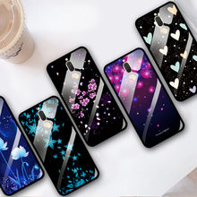 Tempered Glass Case For Huawei Mate 10 lite Flowers Cover Case Honor 9i Glass Soft Back Shell For Huawei Nova 2i Phone Bags G10(China)