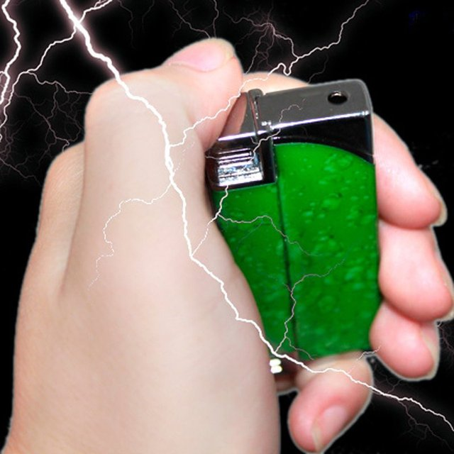 iZone Shock toys electric toys windproof dual jade electric lighter 37g