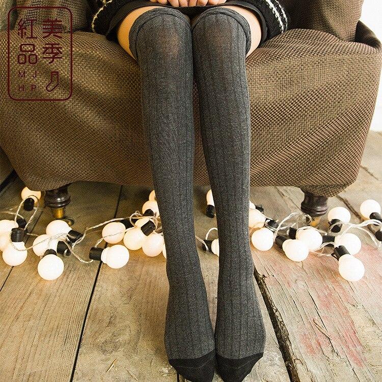 Neue Sexy Schwarz Strümpfe Socken Knie Länge Socken Mund Dünne Rohr Socken Blase Display