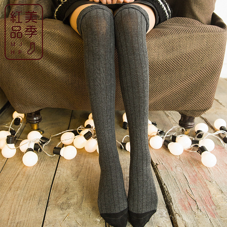New Sexy Black Stockings Socks Knee Length Socks Mouth Thin Tube Socks Bubble Display