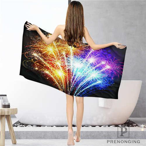 1 Sincere Custom Firework Bathroom Washcloth Towels Face Towel/bath Towel Shower Towels Size 33x74cm/72x143cm#18-12-16-03-144