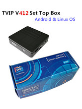 Double System Linux or Android IPTV Set Top Box of TVIP V412 Box Original faster than Mag254/255(China)