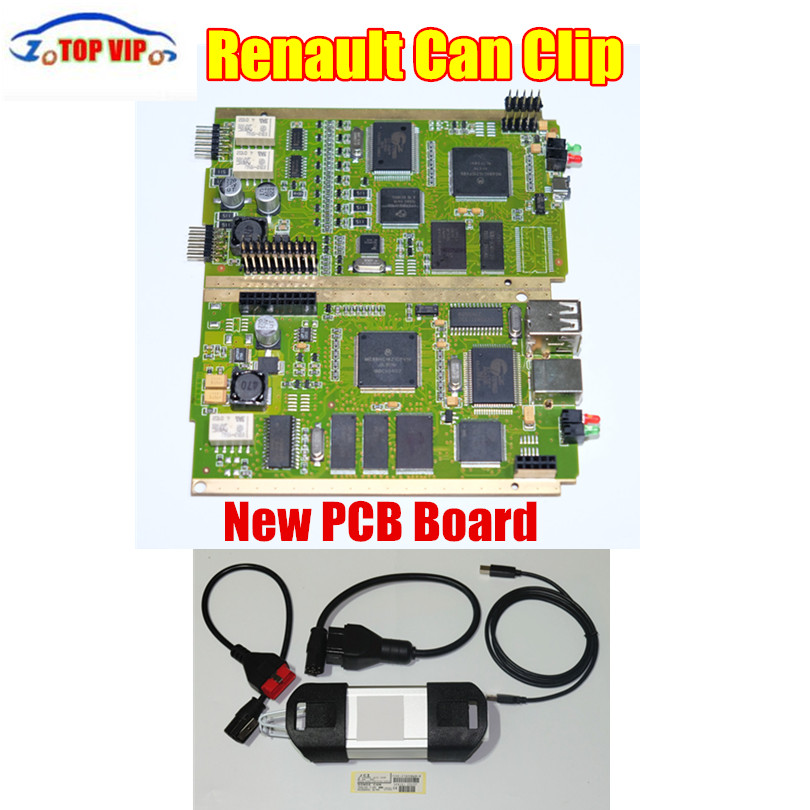 Free Postage PCB Board Latest Version V168 Renault Can Clip Professional Car Diagnostic Interface with Multi-language Auto parts