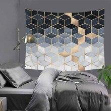 سيليست 1 قطعة نسيج هندسي بسيط أسود الذهب الشمال الجدار الشنق الحديثة عنبر غرفة الديكور البوليستر وسادة بطانية