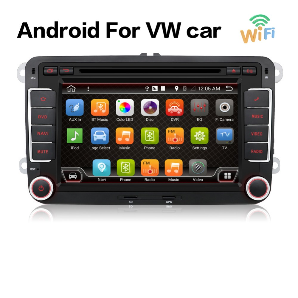 android 6 0 car dvd vw gps navigation wifi bluetooth radio autoradio 2 din for volkswagen golf 4. Black Bedroom Furniture Sets. Home Design Ideas