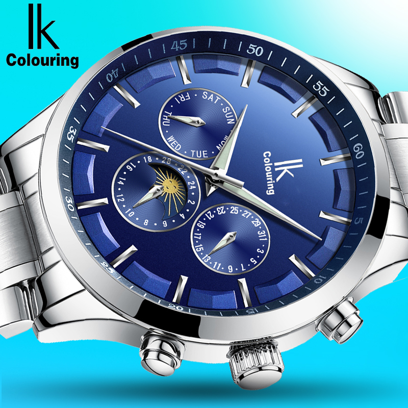 IK Mens Watches Top Brand Luxury Automatic Mechanical Watch Men Full Steel Business Waterproof Sport Watches Relogio Masculino mens watches top brand luxury ik 2017 men watch sport tourbillon automatic mechanical full steel wristwatch relogio masculino