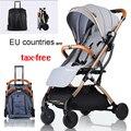 Baby wagen kinderwagen leichte, Tragbare reisen kinderwagen baby kinderwagen kann auf die flugzeug kinderwagen EU land steuer freies