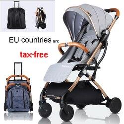 Kind kinderwagen lichtgewicht Draagbare Travel system kinderwagen Kan worden op het vliegtuig kinderen kinderwagen voor pasgeboren
