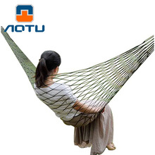 NEW 2018 Outdoor Single hammock Army green nylon 360 grams of outdoor leisure Bold version