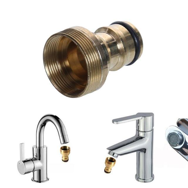Universal Kitchen Tap Hose Adapter Connector Copper Mixer Adaptor Pipe Joiner Ing Utensils