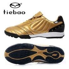 Zapatos de futbol tf turf tiebao marca profesional deporte al aire libre suelas de goma mujeres de los hombres botas ue 39-44 de fútbol de fútbol tacos