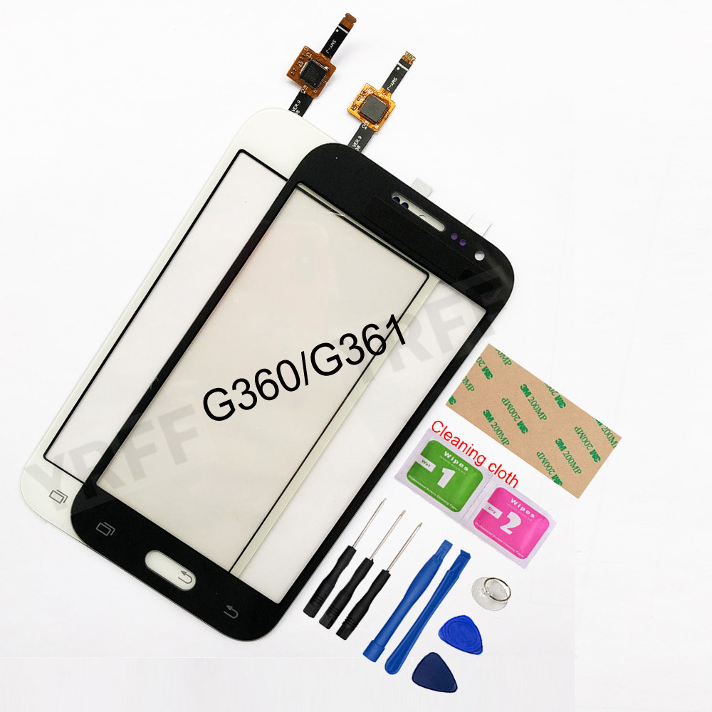 4.5'' For <font><b>Samsung</b></font> <font><b>Galaxy</b></font> DUOS <font><b>Core</b></font> <font><b>Prime</b></font> G360 <font><b>G360H</b></font> G3608 G361 G361H G361F Touch Screen Digitizer Sensor Touch Glass Lens Panel image