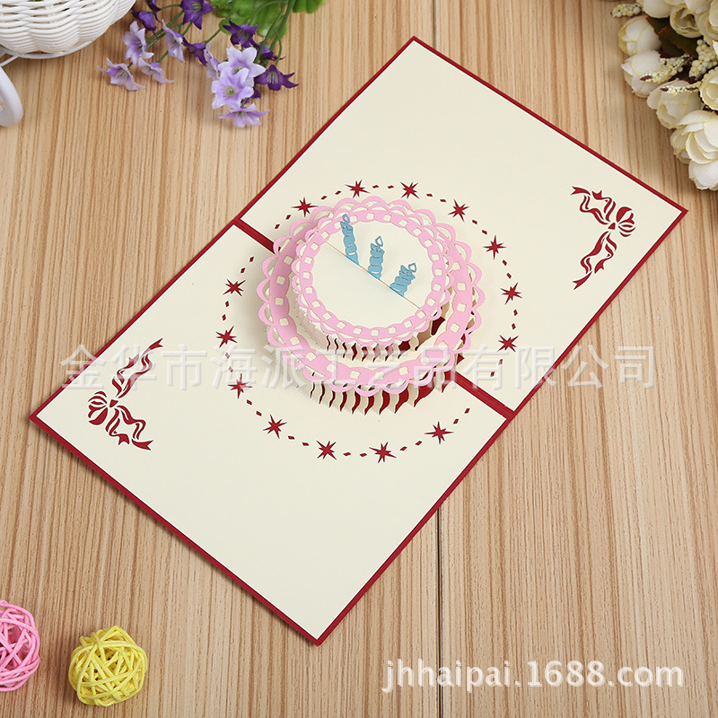 Aliexpress Buy Manufacturers selling gorgeous cake 3D stereo – Birthday Card Manufacturers