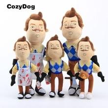Hello Neighbor Plush Toys Soft Stuffed Doll the Neighbor Apron & Cleaver & Coffee 25 cm 10'' sharon mignerey the good neighbor