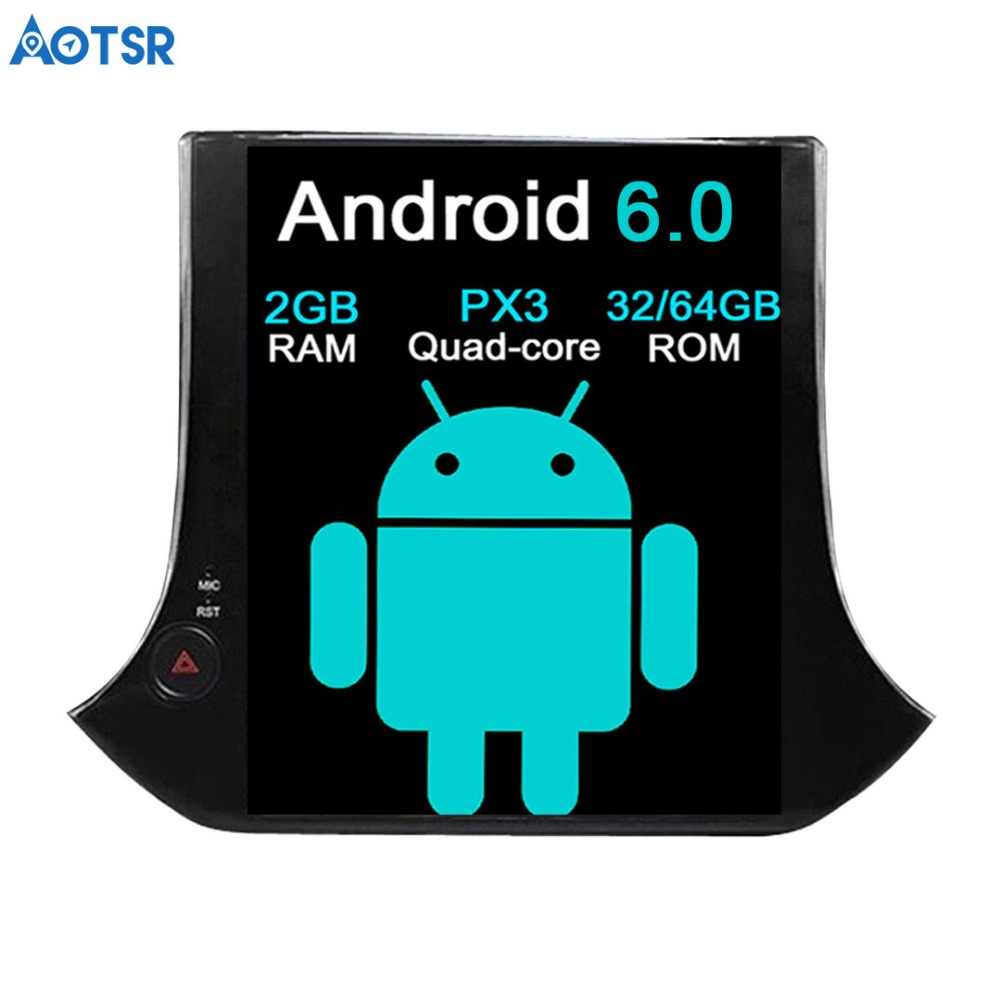 Aotsr android 7.1 tesla estilo 10.4 polegada carro sem dvd player navegação gps para vw tiguan para volkswagen 2010-2016 rádio multimídia