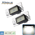 2X Car LED License Plate Lights 12V SMD3528 Number Plate Lamp For Audi A4 B5 A3 8L S5 B5 A3 S3 Sportback A4 S4 Avant Accessories