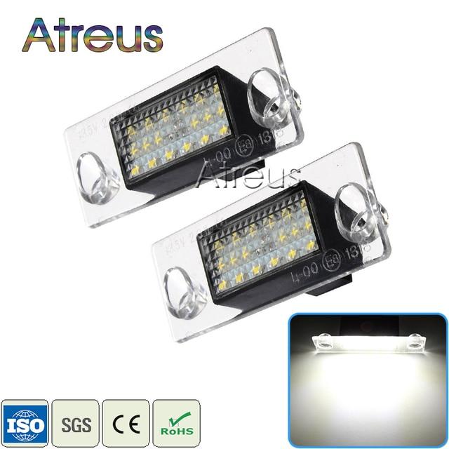 Atreus Car LED License Plate Lights For Audi A4 B5 A3 8L S5 B5 A3 S3 Sportback A4 S4 Avant Accessories White SMD lamp bulb 12V