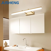 JUSHENG Modern Bathroom LED Wall Lamp Lights with Adjustable Beam Angle over bathroom cabinet bathroom vanity lights black gold