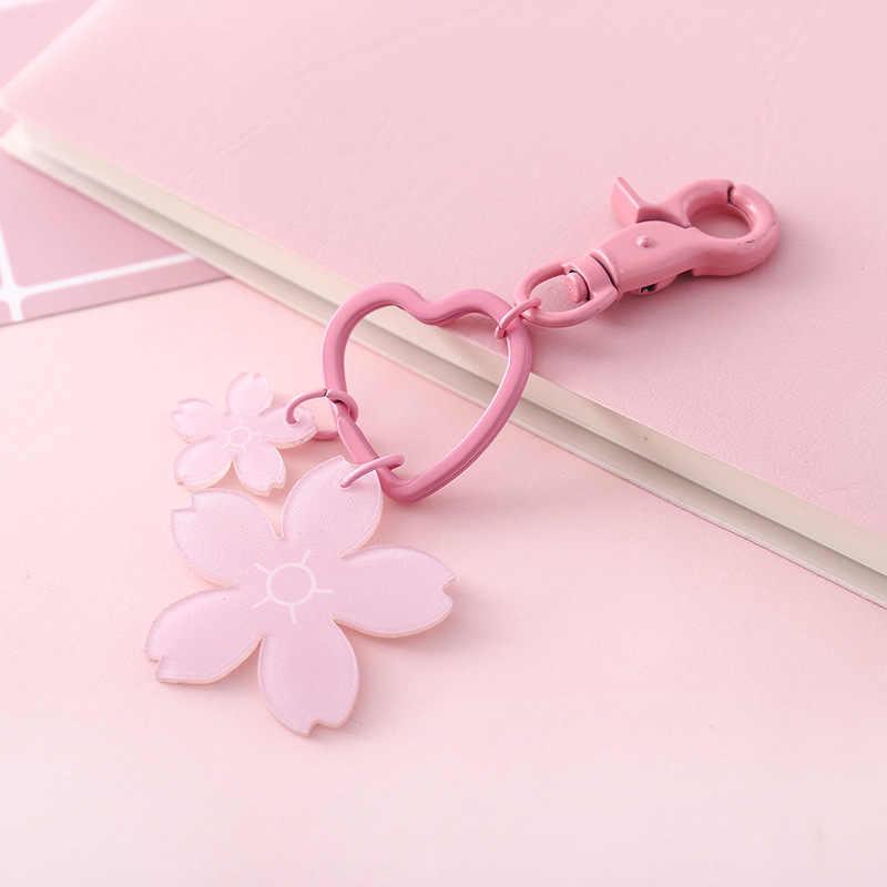LLavero de amor corazón lindo llavero chica llavero elegante lazo nudo cuero bolso colgante decoración de coche llavero