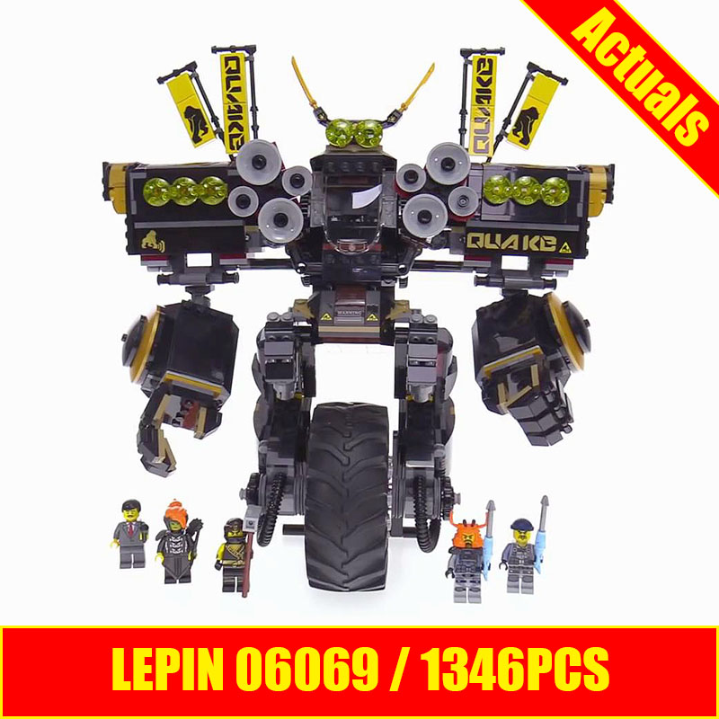 Lepin ninja 06069 QUAKE MECH 1346PCS building blocks ninja products and sets bricks similar to 70632 quake mech blocks lepin 663pcs ninja killow vs samurai x mech oni chopper robots 06077 building blocks assemble toys bricks compatible with 70642