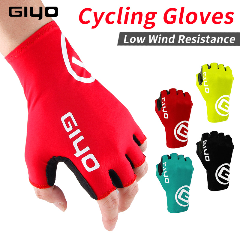 Giyo Breaking Wind Cycling Half Finger Gloves Anti-slip Bicycle Mittens Racing Road Bike Gloves MTB Biciclet Guantes Ciclismo