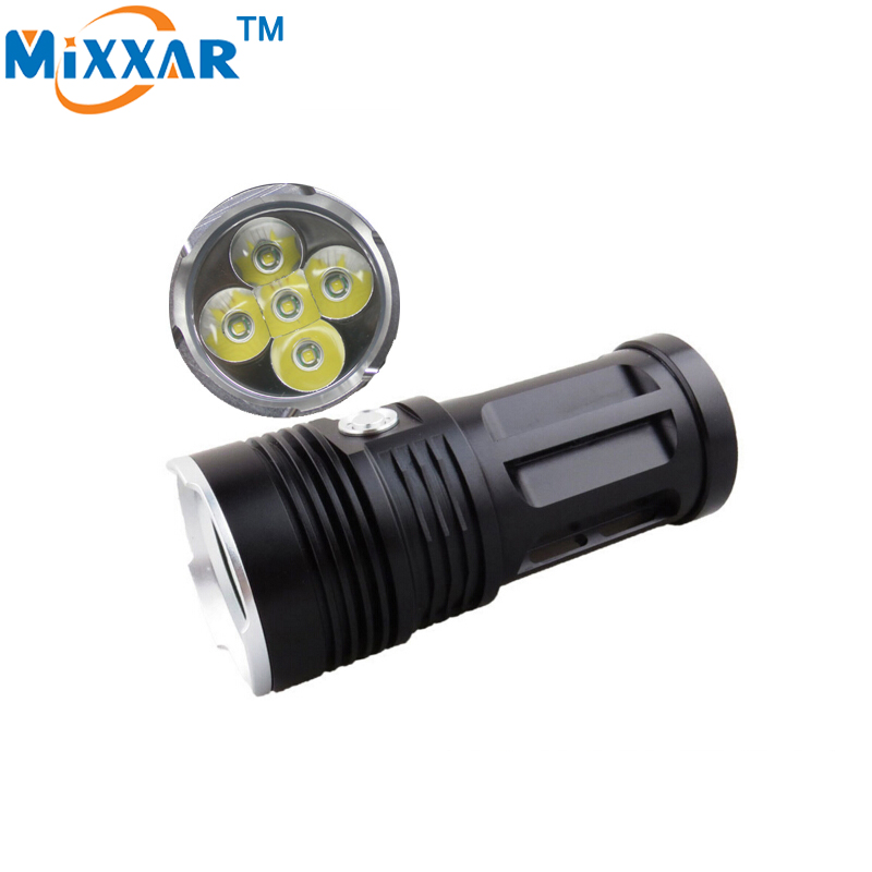 ZK20 Led Flashlight MI-5 10000 Lumen Camp Hunting Torch Suitable 4x18650 Battery 5x Cree XM-L T6 Tactical Lantern 3800 lumens cree xm l t6 5 modes led tactical flashlight torch waterproof lamp torch hunting flash light lantern for camping z93