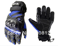 MOTO Racing Gloves Motorcycle protective gear waterproof mobile phone touch lamp led genuine leather carbon fiber gloves MTO 06