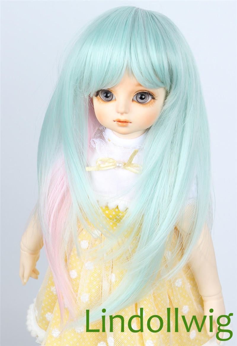 """Brand new 8-9/"""" 1//3 dollfie BJD SD LUTS Red hair wig 20#"""
