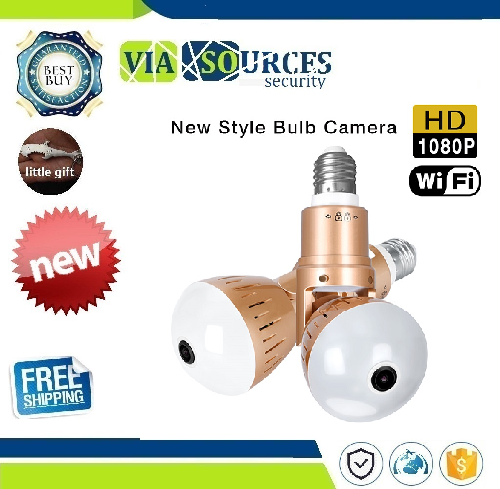 1080P HD 2MP Panoramic Bulb Infrared and White Light Wireless IP Camera Wi-FI FishEye Mini Lamp Wifi P2P Cam CCTV Home Security1080P HD 2MP Panoramic Bulb Infrared and White Light Wireless IP Camera Wi-FI FishEye Mini Lamp Wifi P2P Cam CCTV Home Security