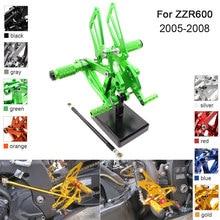 CNC Aluminum Adjustable Rearsets Foot Pegs For Kawasaki ZZR600 ZZR 600 2005 2006 2007 2008 цены онлайн