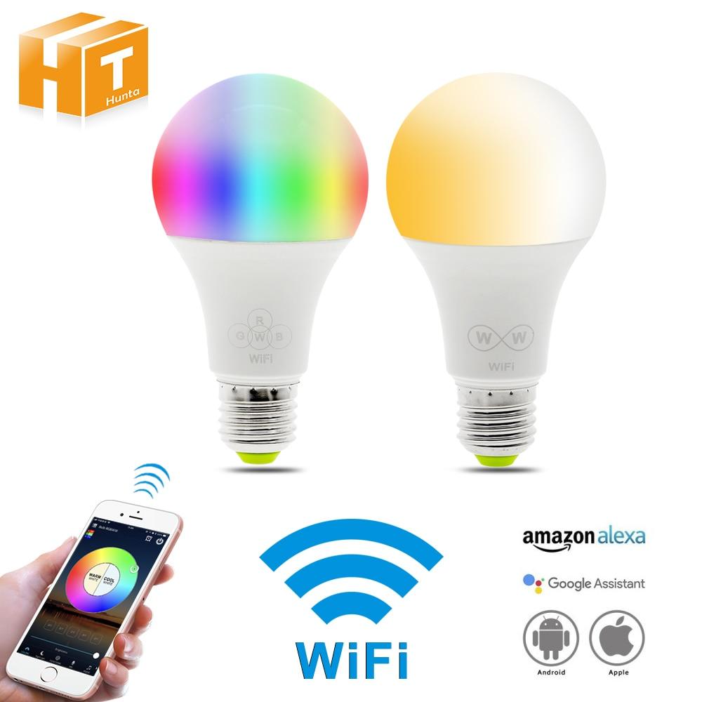 Smart Light LED Smart Bulb E27 AC85-265V 6.5W Wifi Bulb work with Amazon Alexa & Google Home RGBW / Double White LED lamp Light. smart led bulb rgbw gu10 spotlight dimmer bulb work with amazon alexa google home smart voice control zigbee zll link hue app
