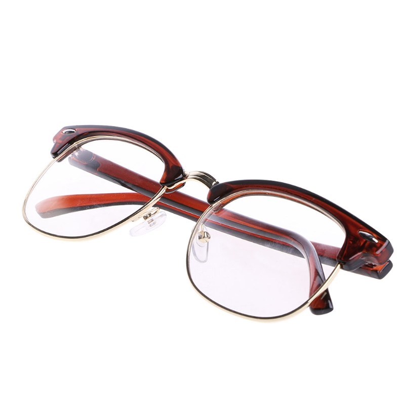 100% QualitäT Männer Frauen Metall Halbrandlose Brillen Optische Brillen Rahmen Klare Linse Brillen F05