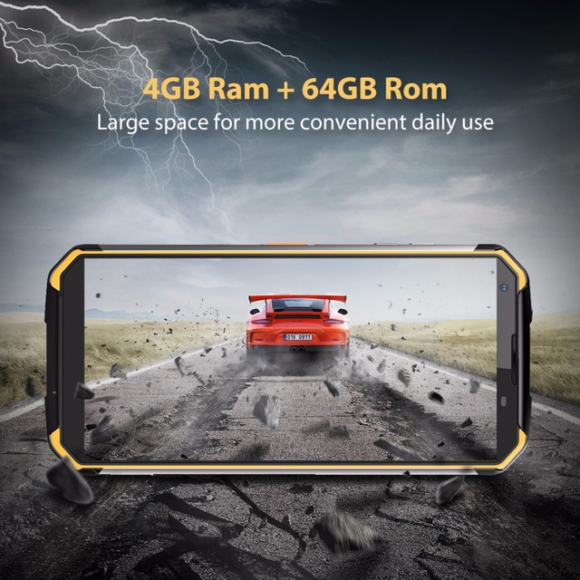 Blackview BV9500 4G Mobile Phone Android 8.1 Octa Core 5.7″ 18:9 MTK6763T 4GB RAM 64GB ROM IP68 Waterproof Smartphone NFC OTG