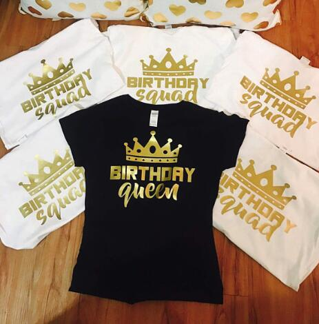 Personalize Glitter Birthday Queen Squad T Shirts Bachelorette Bridal Shower Tanks Tops Party Favors Gifts In From Home Garden On
