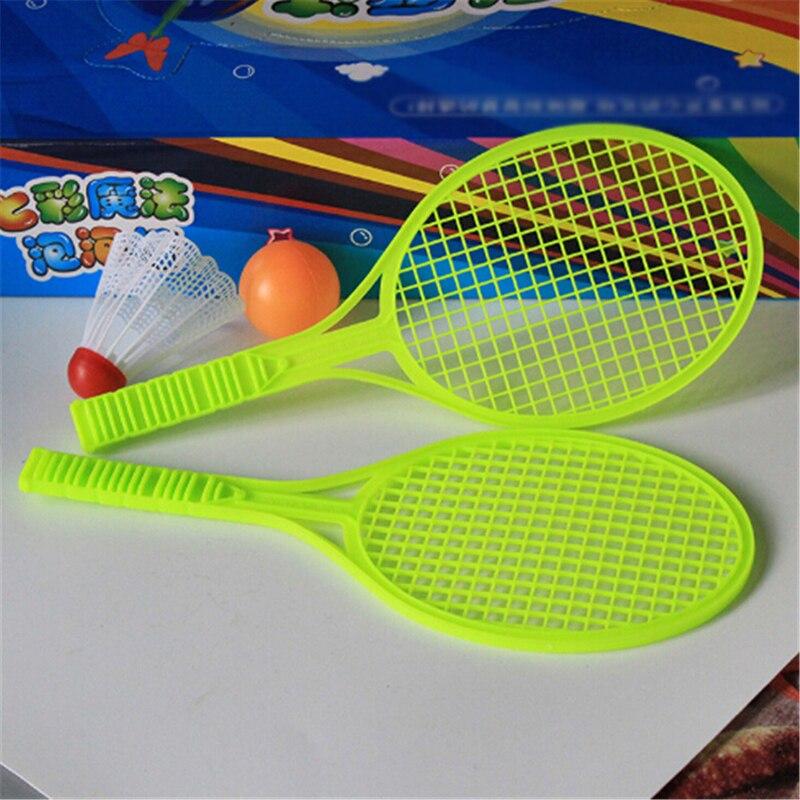 1Pair Novelty Badminton Tennis Set Racket Parent-child Baby Sport Kid Baby Outdoor Sport Educational Toys Random Color