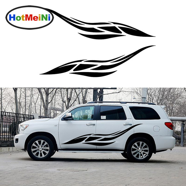 Hotmeini 2 x abstract wing feathers fly freedom graphic happy car stickers for van rv door