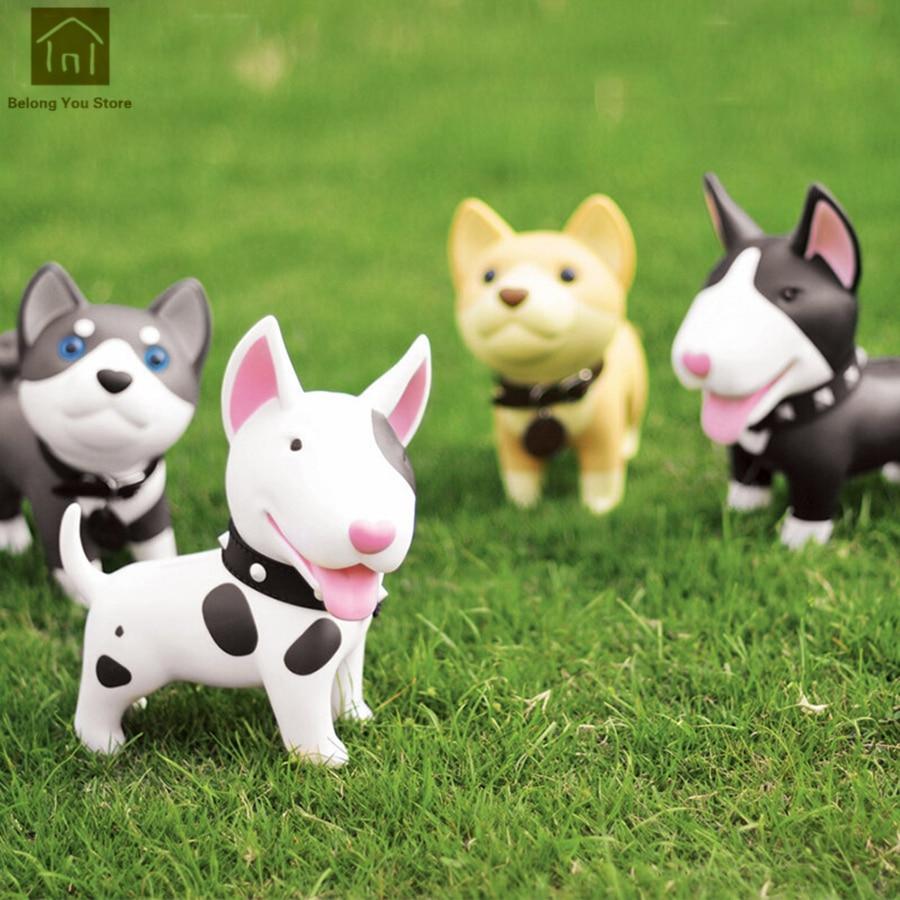 Children Cute Coin Resin Dog Piggy Bank Safe Save Money Boxes Jar Favors Dreng Funny Money Pot Decorations Supplies WKO017