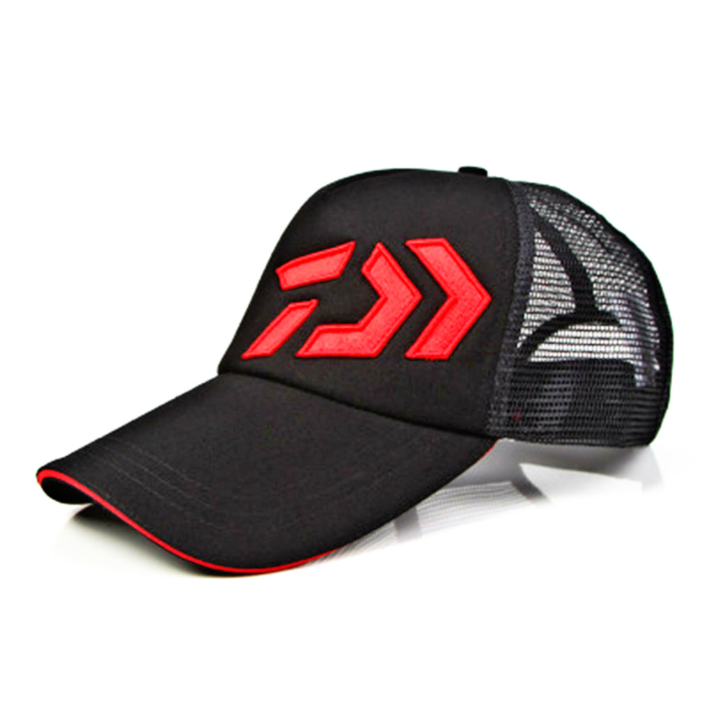 Image 2 - Daiwa Fishing Hat Male Sunshade Sun Visor Daiwa Breathable Fishing Cap Adjustable Hat Around Fishing Hat High Quality Pesca-in Fishing Caps from Sports & Entertainment