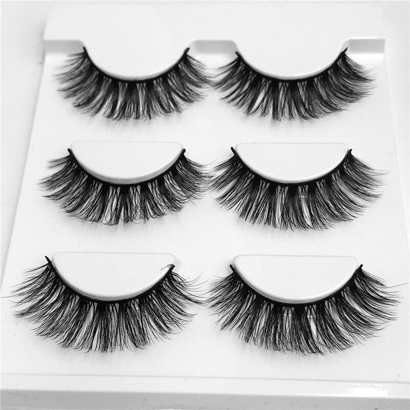 YOKPN Thick Volume Fake Eyelash Smokey Makeup Long Lashes Hand Made 3D False Eyelashes Crisscross Fake Eye Lashes For Beauty