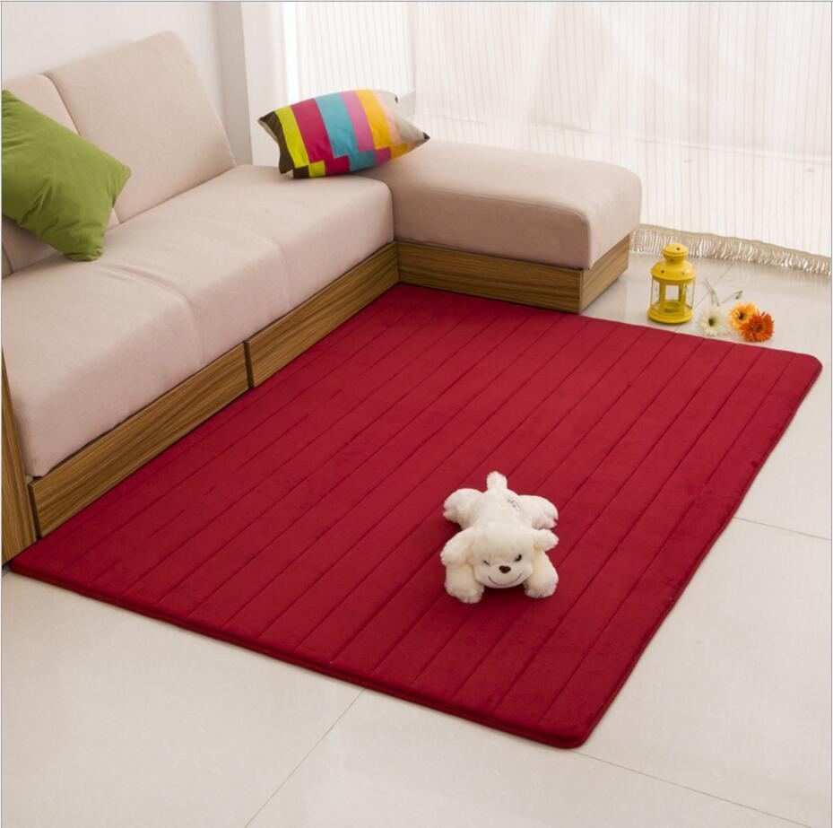 100 X 160cm Coral Fleece Memory Foam Carpet Non Slip Water Absorption Area  Rug Floor Mat For Bathroom Kitchen Home Supplies In Carpet From Home U0026  Garden On ...
