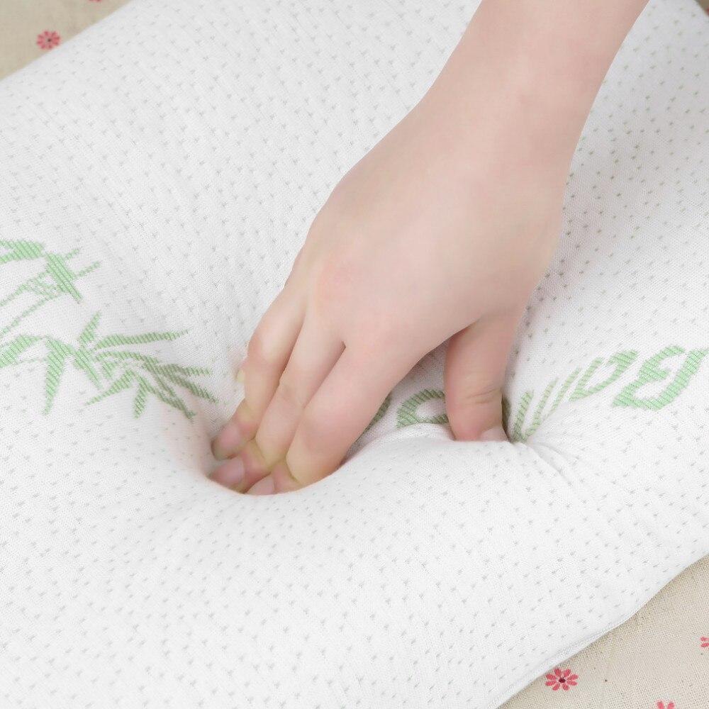 Help Sleep Bamboo Fiber Pillow Slow Rebound Memory Foam Pillow ...