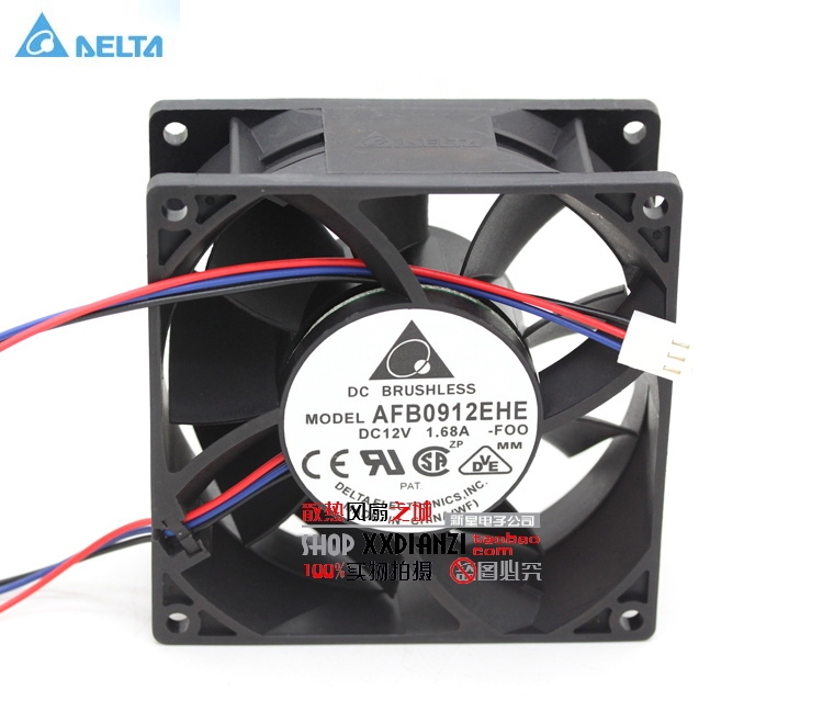 Wholesale Delta AFB0912EHE -F00 9238 12v 1.68A 9cm server fans free shipping wholesale original delta delta afb0912uhe f00 9238 90mm 12v 3 0a server axial powerful cooling fans