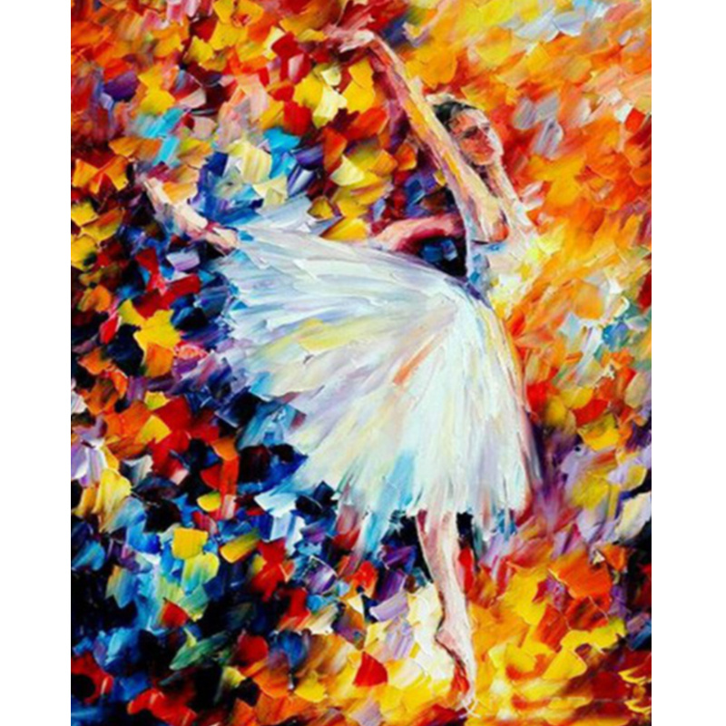 2pcs Flower Fairy Diamond Painting DIY Embroidery Cross Stitch Kit for Adult
