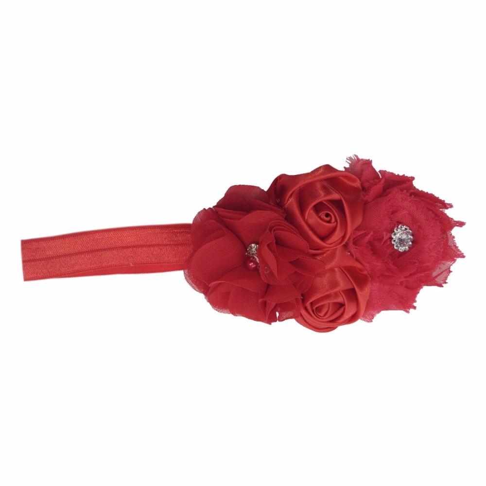 Купить детские повязки на голову с цветами головные уборы розой аксессуары