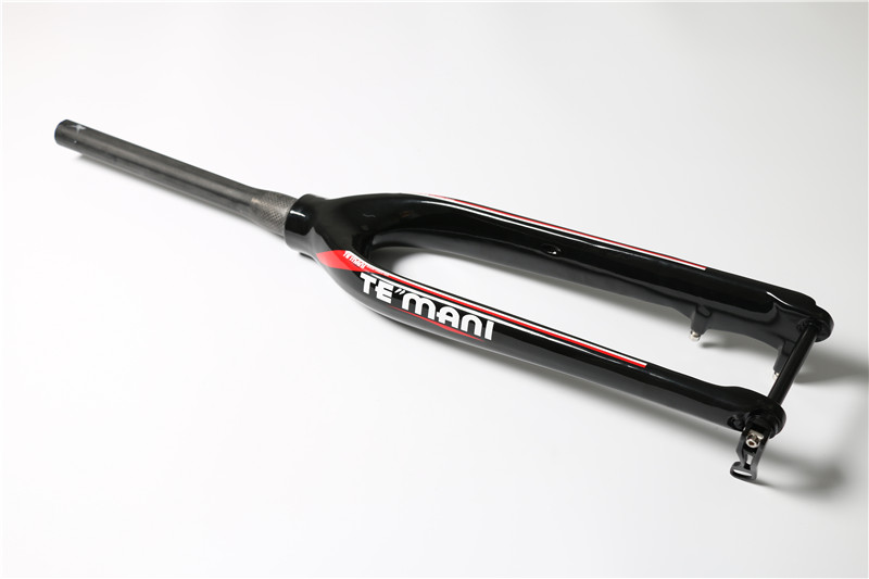 TEMANI  Full Carbon Fiber Mountain Bike Taper Cone Tube Shaft Front Fork 28.6mm  Disc Brakes Fork  26/27.5/29 Inch