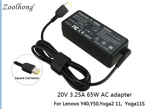 High Quality 20V 325A 65W AC Power Adapter Charger For