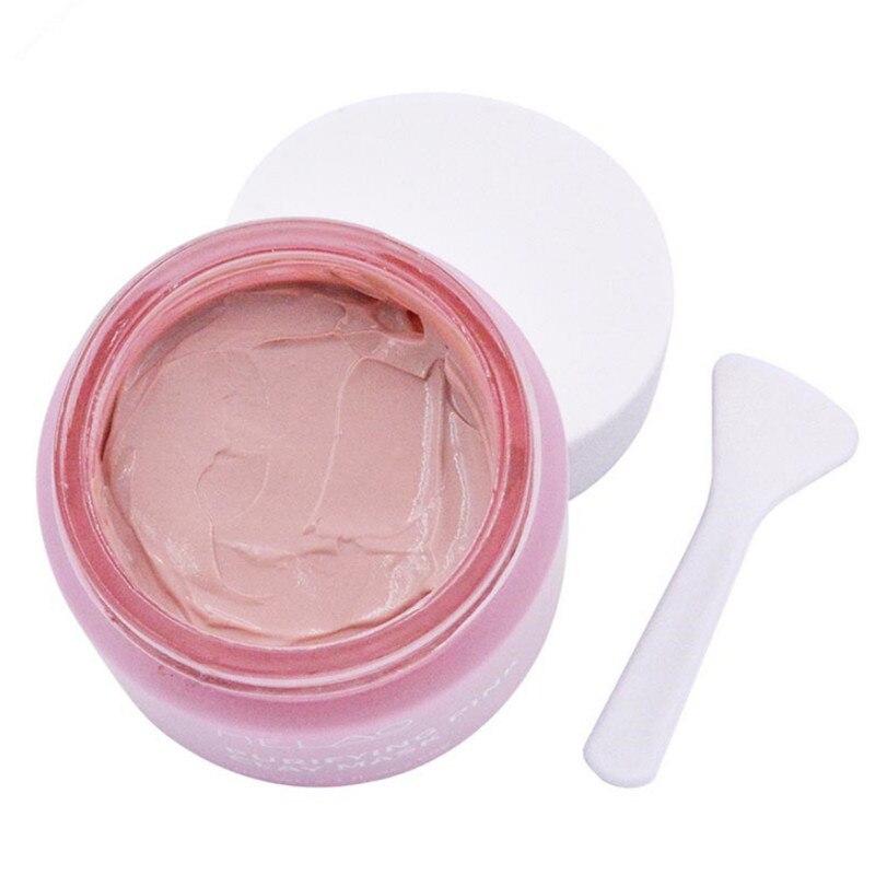 MELAO Washing Face Mud Mask Female Pink Clay Mask  Nourishing Whitening Anti-wrinkle Pore Cleaner Skin Care Masks 60g