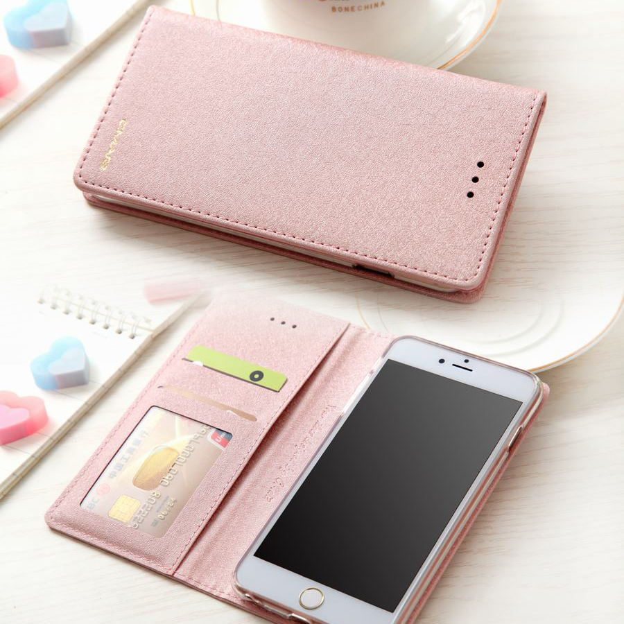 Luxury Leather Wallet Flip Phone Cases For iPhone 6 6s 7 8 Plus X XS MAX XR Case Wallet Magnetic Flip Cover Case Coque Funda(China)